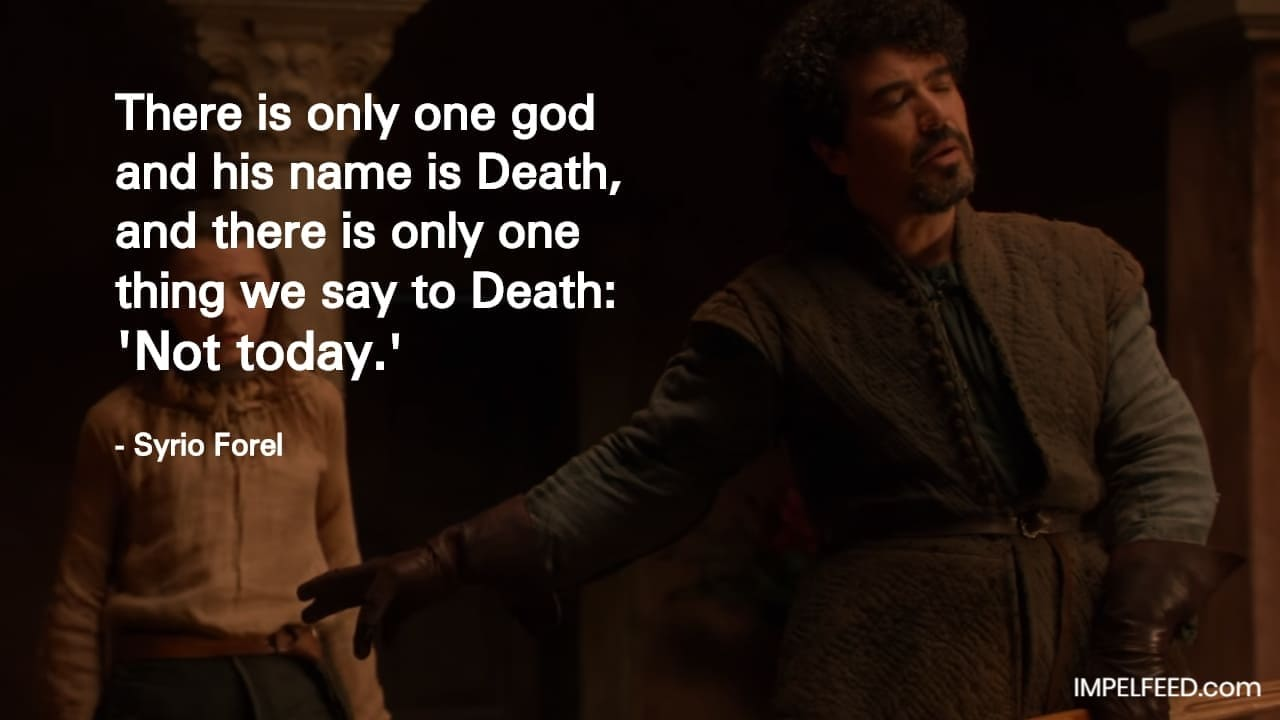 Syrio Forel Quote
